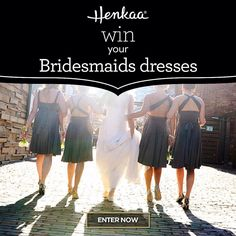 Our friends @henkaa are giving away 4 bridesmaids dresses to one lucky bride to Outfit Your Bridesmaids!! Visit the link in our bio and click this image to learn more & enter! #bridesmaidsdresses #bridesmaids #henkaa #weddingfashion #bridesmaidsattire #convertiblebridesmaidsdresses // See this post on Instagram: http://ift.tt/1PnFz6H