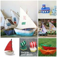 20 Boat Crafts for the Summer - some 5 minute crafts, some nature crafts, some paper crafts..