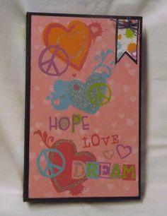 Hope Love Peace mini album Tween girl mini by CreationsbySweet