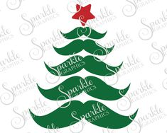 Mustache Christmas Tree Cut File Set Christmas SVG Tree Star Hipster Stash Tree Svg Dxf Eps Png Silhouette Cricut Cut File Commercial Use by SparkleGraphics16 on Etsy https://www.etsy.com/listing/482285312/mustache-christmas-tree-cut-file-set
