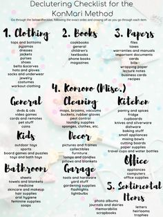 KON MARI CHALLENGE WITH FITLITTLEDONUTRead both books and start before Victoria was born. I have lost my steam.The 14 best checklists for cleaning your bedroom for adults and childrenThe 14 best Room Cleaning Tips, House Cleaning Checklist, Cleaning Hacks, Bedroom Cleaning, Cleaning Schedules, Cleaning Closet, Declutter Home, Declutter Your Life, Declutter Bedroom