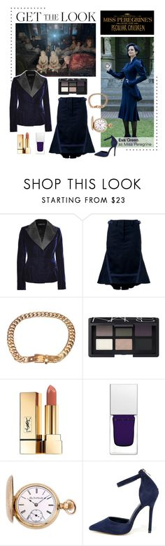 """""""Miss Peregrine's Home for Peculiar Children"""" by polyvore-editorial ❤ liked on Polyvore featuring Tom Ford, Sacai, Gucci, NARS Cosmetics, Yves Saint Laurent, Givenchy, Elgin, Betani and staypeculiar"""