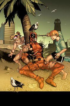 #Deadpool #Fan #Art. (FUN beach is FUN. DEADPOOl) By: MarteGracia. (THE * 5 * STÅR * ÅWARD * OF: * AW YEAH, IT'S MAJOR ÅWESOMENESS!!!™)<©>