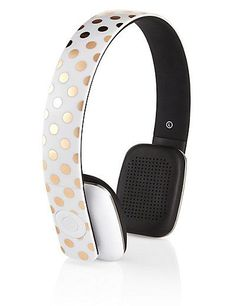 Buy the Gold Spot Headphones from Marks and Spencer's range. Christmas Gift Guide, Christmas Gifts, Christmas 2015, Weeks Until Christmas, Best Gifts For Her, Little Black Books, Headphones, Gold, Stuff To Buy