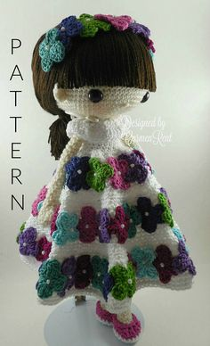 September and her Rabbit Amigurumi Doll Crochet Pattern PDF