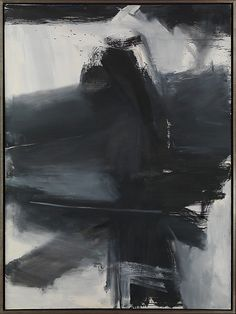 Black, White, and Gray  Artist:Franz Kline (American, Wilkes-Barre, Pennsylvania 1910–1962 New York) Date:1959 Medium:Oil on canvas Dimensions:H. 105, W. 78 inches