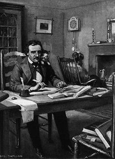 "Edgar Allen Poe ---I wish I could write as mysterious as a cat."" —Edgar Allan Poe and his wife Virginia Clemm had a cat named Catterina Edgar Allen Poe, Edgar Poe, Writers And Poets, Edgar Allan Poe Biography, Cat Club, Patricia Highsmith, Celebrities With Cats, Celebs, Poe Quotes"