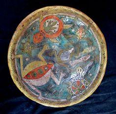 Frogs & Turtles - Original Art Bowl