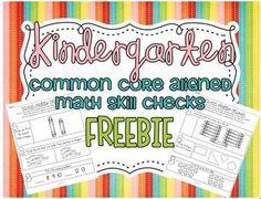 oh yeah Common Core SUPER common core aligned math skill checks {Kindergarten! Kindergarten Assessment, Math Assessment, Kindergarten Classroom, Kindergarten Activities, Teaching Math, Teaching Ideas, Kindergarten Freebies, Kindergarten Rocks, Kindergarten Writing