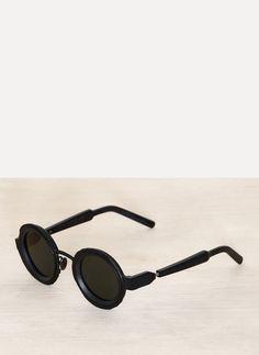 a7cd2d99e0f KUBORAUM Maske Z3 41-31 Black Matte Round Sunglasses