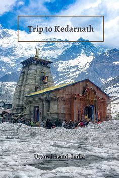 #Kedarnath Temple is located at 11,755 feet in the Garhwal Himalayan range of #Uttarakhand, on the banks of Mandakini River near the Chorababari glacier. It is a Hindu #Temple (Shrine) dedicated to Lord Shiva and is also one of the Jyotirlinga. Read all about #kedarnathtemple here. #uttarakhand  #kedarnathtrek #kedarnathtempletrek #kedarnathtravelguide China Travel, India Travel, Japan Travel, Best Places To Travel, Places To Go, Amazing Destinations, Travel Destinations, Travel Inspiration, Travel Ideas