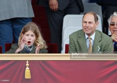 Lady Louise Windsor and Prince Edward, Earl of Wessex watch the Pony Club Mounted Games as they attend day 4 of the Royal Windsor Horse Show in Home Park on May 2015 in Windsor, England. Prince Phillip, Prince Edward, Show Photos, Family Photos, The Pony Club, Lyle Mays, Louise Mountbatten, Viscount Severn, Lady Louise Windsor