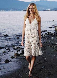 Outstanding Crochet: Crochet sexy dresses from Anna Kosturova.