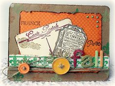 Paris in Fall card designed by Melissa Bove