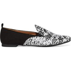 Swirl Slip On Loafer ($15) ❤ liked on Polyvore featuring shoes, loafers, slipon shoes, print flats, pointy toe flat shoes, slip on shoes and flat pointed-toe shoes