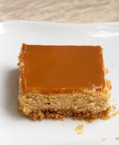 Dulce de Leche Cheesecake Bars are rich, creamy, delicious bars with dulce de leche both in the filling and the topping. - Bake or Break