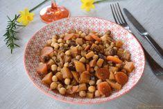 Tajine pois chiches végétarien aux navets boule d'or et raisins secs - Au Fil du Thym