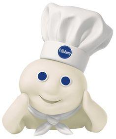 Pillsbury Doughboy - he makes the best cake mixes, icing, and rolls YUM YUM