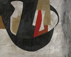 Ben Nicholson 1894 - 1982 1979 (ELEPHANTINE) signed Nicholson, dated 1979 and inscribed Elephantine on the reverse, oil, felt-tip pen and wash on board mounted on board by Executed in Pen And Wash, Paintings I Love, Black And White Abstract, Art Moderne, Art Auction, Art Day, Art Boards, Modern Art, Abstract Art