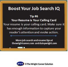 Your resume is your calling card