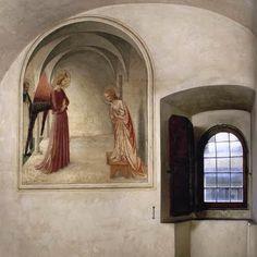 BEATO ANGELICO - Annunciazione - affresco - 1438-1440 - cella n. 3 - Convento-Museo N. di San Marco, Firenze