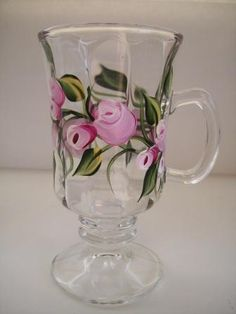 Roses Tea/Coffee Cup by Morningglories1 on Etsy $10.00