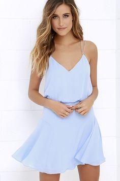 Wanna Bet? Periwinkle Blue Sleeveless Dress at Lulus.com!