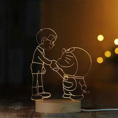 3D Doraemon LED Night Light Children Bedroom Warm White Table Lamp Christmas Wedding Party Home Decor Kid Baby Creative Gifts #Affiliate