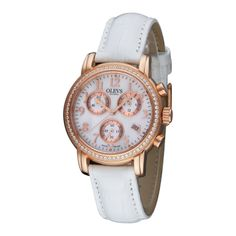 Luxury Diamond Chronograph Quartz Women Watch