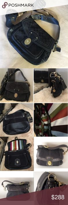 Coach 65th Anniversary Leather Legacy Shoulder Bag This is PRELOVED & in good condition. It has been gently used for a short period of time. No major stains or gross wear at all! Interior is clean and odor free! Absolutely in wonderful condition with lots of life left. Any wear simply blends nicely with the distressed look of the leather and only adds more CHARACTER! It has beautiful iconic details that never goes out of style. Gold tone hardware can be polished to bring back luster.  DEPTH…