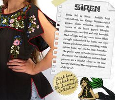 Siren -- for peasant blouses and dresses
