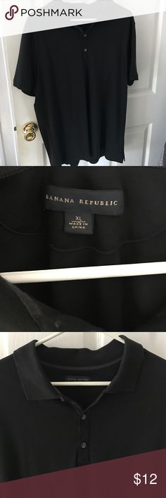 Banana Republic black polo Soft polo. This is more fitted than most polos so could fit a Large as well. Banana Republic Shirts Polos