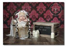 Handmade Crochet Cow Hat Baby Cow Hat Newborn by verityisabelle, £32.00