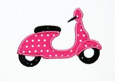 Polka dots and scooters