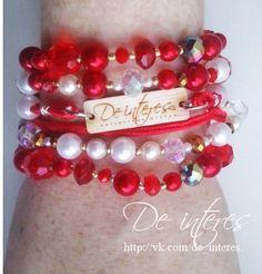 . Браслет от De interes.bracelet, wristband, bangle, Бусы -стекло граненое.