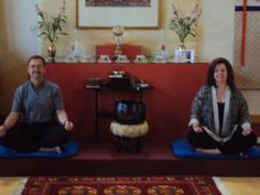 Angela and Dennis Buttimer teaching Mindfulness