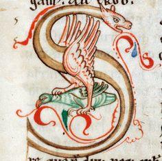initial 'S' Lietbertus of Saint-Ruf, Flores Psalmorum, Marchiennes Abbey 12th century Douai, Bibliothèque municipale, ms. 44, t. I, fol. 24r
