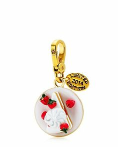 "STRAWBERRY SHORTCAKE CHARM $48.00 STYLE NUMBER: YJRU7785   Add to wish list ADD TO BAG Special Offer 40% off Jewelry DESCRIPTION The sweetest thing…go ahead and pair this charm with our Candy Jar Charm! Juicy logo on lobster clasp. 1.75"" L x 0.95"" W x 0.75"" H Imported"
