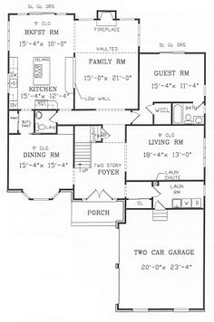 First Floor Plan image of ALBERTSON House Plan