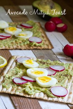 Avocado Matzah Toast, a guest post from Amy Kritzer from What Jew Wanna Eat on Jewhungry, the blog. Yum!