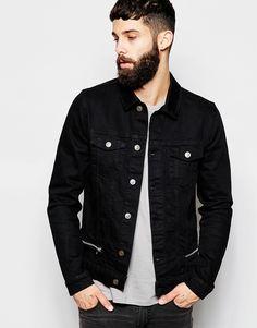 Image 1 ofASOS Denim Jacket With Zip Detail