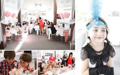 girls dressed for hight tea party