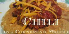 Chilli on a cornbread waffle