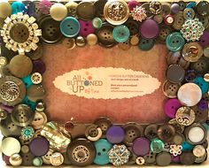Grey Purple & Turquoise Button Picture by allbuttonedupbytina, $40.00
