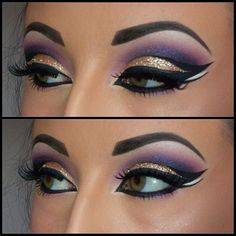 Egyptian Eye Makeup. I ADORE THIS!!! So me. :)