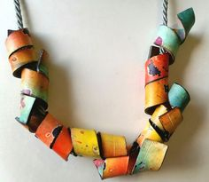 This slight sigh lengthens and shortens .. It is a small smile at the sun < 3 polymer clay necklace ;-) | by Cecilia Leonini, Polymer clay ImpastArte