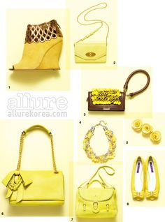 Not such a fan of Yellow before but these are pretty.     진한 향기의 노란색 패션 아이템 :: allureKorea.com