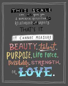The scale is a nunerical reflection. ..