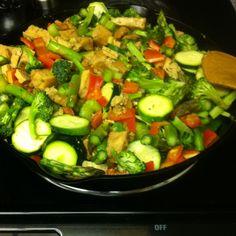 Veggie tofu stir fri:)