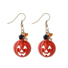 Halloween Fishhook Dangle Earrings Ghost Pumpkin Jack-o-Lantern White Ghost Earrings Halloween Earrings Diy, Halloween Jewelry, Holiday Jewelry, Fall Jewelry, Jewelry Ideas, Beaded Jewelry, Jewlery, Unique Jewelry, Halloween 2020